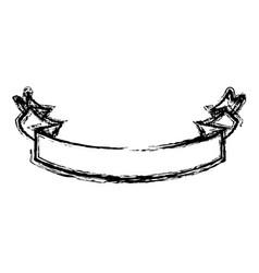 Contour ribbon decoration design vector