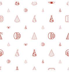 costume icons pattern seamless white background vector image