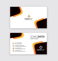 Creative business card template latest vector