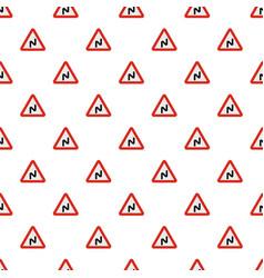 dangerous turn left pattern seamless vector image