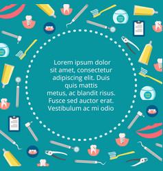 Dental service banner design - colorful vector