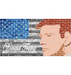 Donald Trump vector image