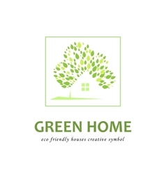 Eco friendly green houses vector