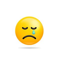 Emoji smile icon symbol crying face yellow vector
