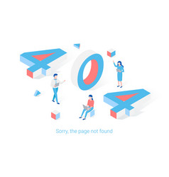 error 404 page isometric design concept vector image