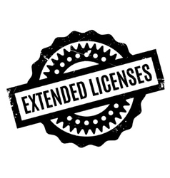Extended Licenses rubber stamp vector