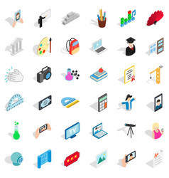 Frame icons set isometric style vector