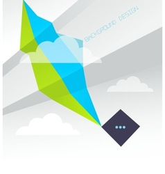 Geometric Background with clouds vector