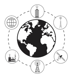 Globe antenna provider communication vector