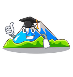 Graduation miniature mountain in the character vector