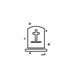 grave icon design vector image