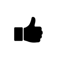 hand thumb up icon in flat style yes symbol vector image