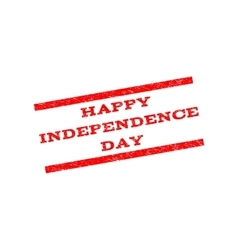 Happy Independence Day Watermark Stamp vector