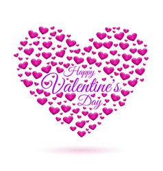 hearts frame valentines day vector image