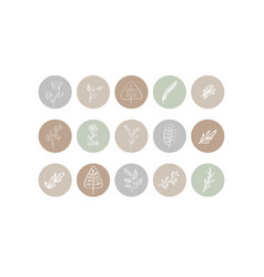 Highlight cover icon story natural vector