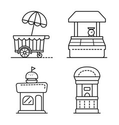 Isolated object vending and public sign vector