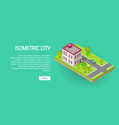 isometric icon of two storey office center web vector image