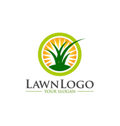 lawn care logo design vector image