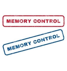 Memory Control Rubber Stamps vector image