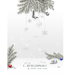 merry christmas decorative design with xmas vector image