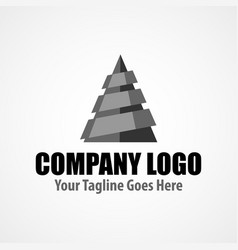 modern logo template for drilling company vector image