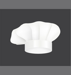 Modern white chef hat restaurant uniform costume vector
