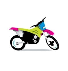 Motocross Bike Cartoon vector image