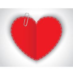 paper heart and clip vector image