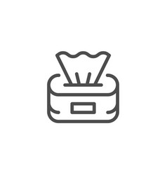 paper napkins line icon vector image
