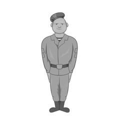 Paratrooper icon black monochrome style vector