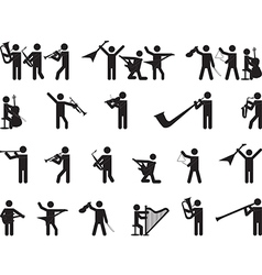 Pictogram people singing vector