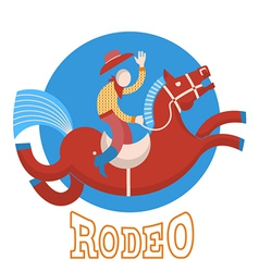 RodeoCowboy on horse vector image