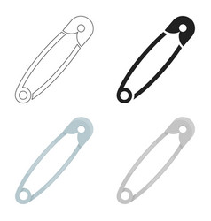Safety pin icon of for web and vector