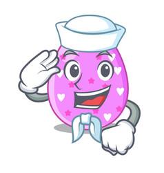Sailor easter egg cartoon clipping on path vector