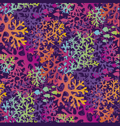 sea coral color seamless pattern vector image