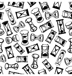 Seamless abstract hourglasses pattern vector