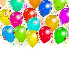 Set party balloons confetti with space for text vector image