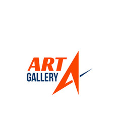 sign for art gallery vector image