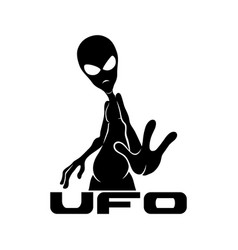 Sign space aliens vector