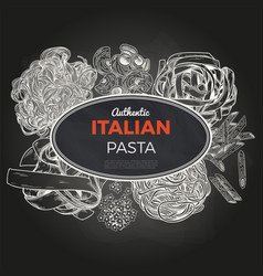 sketch pasta banner hand drawn vector image