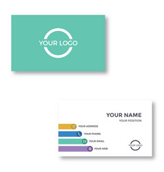 Sophisticated business card vector