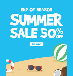 summer sale banner background layout vector image