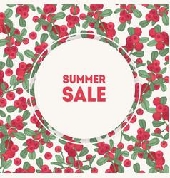 summer sale inscription inside round frame vector image