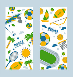 summer sports and outdoor activities brazil event vector image