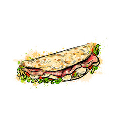 taco mexican fast food traditional tacos from a vector image