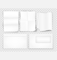 templates set of corporate identity paper sheet vector image