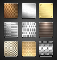 Texture metal vector image