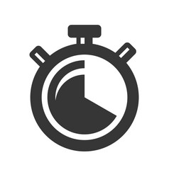 timer clock icon on white background vector image