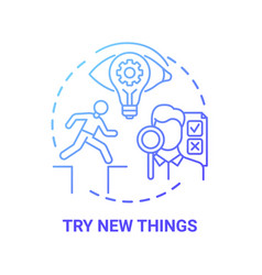 Try new things concept icon vector