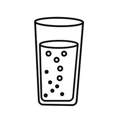 water glass drawing icon vector image